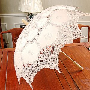 "Marzipan ""almond cookie"" colored lace parasol"