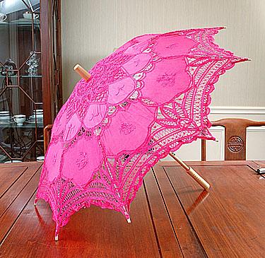 lace parasol, fuchsia rose parasols
